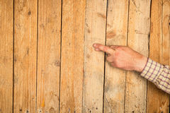 Touch wood Royalty Free Stock Images
