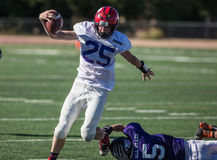 Touchdown. All star football action at the NORCAL Lions Club Game in Oroville, California Stock Photography
