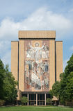 Touchdown Jesus. The word of life mural, also known as touchdown jesus, located on the Hesburgh library building at Notre Dame University Royalty Free Stock Photography