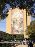 Touchdown Jesus Notre Dame. Touchdown Jesus has spurred library Notre Dame Indiana stock photo