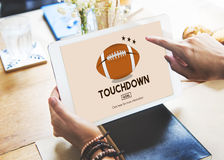 Touchdown Sport American Football Power Speed Strategy Concept Royalty Free Stock Photos