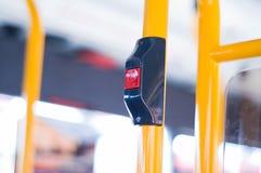 Touche 'ARRÊT' de bus Image libre de droits
