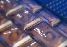 Touche d'effacement sur un clavier d'ordinateur Photo libre de droits