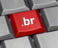 Touche d'ordinateur - suffixe d'Internet du Brésil Image libre de droits