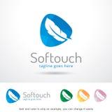 Toucher doux Logo Template Design Vector Photographie stock libre de droits