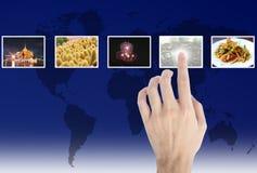 touches för flödeshandbilder royaltyfri fotografi