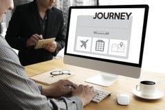 touchez l'interface en ligne de réservation de réservation de vacances pour aller jo de voyage Images stock