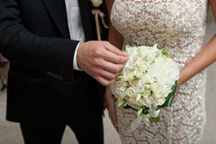 Touching bouquet Royalty Free Stock Photo