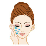 Touching a Cheek - Facial Skin Care Royalty Free Stock Photos
