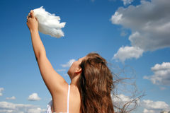 Touching the clouds Royalty Free Stock Photos
