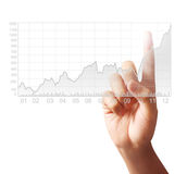 Touching graph of work Royalty Free Stock Image