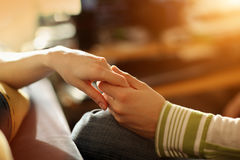 Touching hands Royalty Free Stock Photos