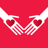 Touching hands Royalty Free Stock Images