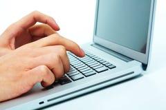 Touching keys Stock Photos