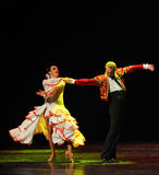 The touching love-Spanish flamenco-the Austria's world Dance Royalty Free Stock Images