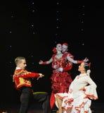 The touching love-Spanish flamenco-the Austria's world Dance Royalty Free Stock Photos