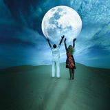 Touching the Moon Royalty Free Stock Images