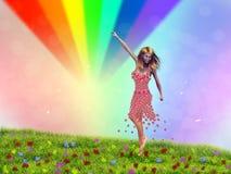 Touching Rainbow Royalty Free Stock Photos