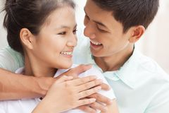 Touching relationships Stock Photography