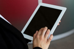 Touching screen digital tablet PC Royalty Free Stock Photo