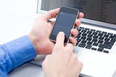 Touching sensor screen Royalty Free Stock Photo