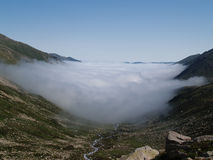 Touching the sky. A morning cloud in the Kachkar mountains, Turkey Stock Image