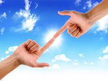 Touching the Sun Royalty Free Stock Photography