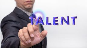 Touching talent word on air royalty free stock images