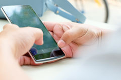 Touching Telephone Royalty Free Stock Images