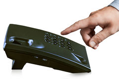 Touching with telephone Royalty Free Stock Images