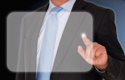 Touching touchscreen Royalty Free Stock Photography