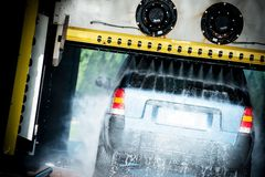 Touchless Car Wash Royalty Free Stock Photography