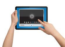 touchpad медиа-проигрывателя удерживания руки мыжской Стоковые Изображения