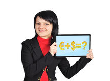 Touchpad with business formula Stock Images