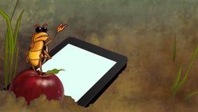 Touchpad laissé tomber dans la saleté Image libre de droits
