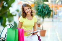Touchpad shopping Stock Images