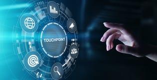 touchpoint Aff?rsstrategi som annonserar och marknadsf?r begrepp fotografering för bildbyråer