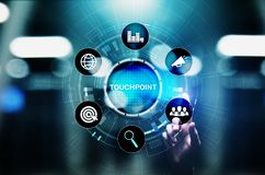 Touchpoint. Business strategy advertising and marketing concept. stock photography