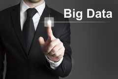 Touchscreen big data Royalty Free Stock Photos
