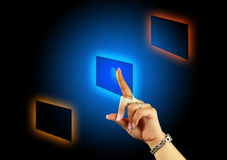 Touchscreen button Royalty Free Stock Image