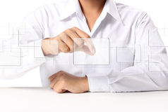 Touchscreen button Stock Photography