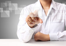 Touchscreen button Stock Image