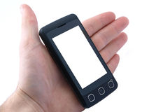 Touchscreen cell phone Stock Images