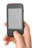 Touchscreen communicatie apparaat stock foto's
