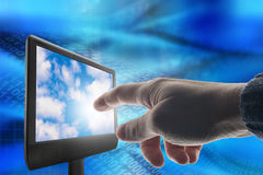 Touchscreen computer Stock Images