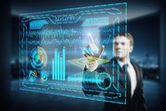 Touchscreen concept Royalty Free Stock Images