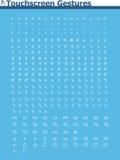 Touchscreen de reeks van het gebarenpictogram Royalty-vrije Stock Afbeelding