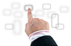 Touchscreen interface Royalty Free Stock Images