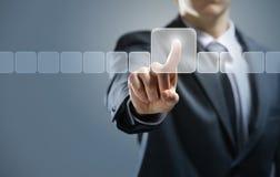 Touchscreen interface Stock Afbeelding