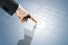 Touchscreen interface. Futuristic display:  a touchscreen interface Royalty Free Stock Photos